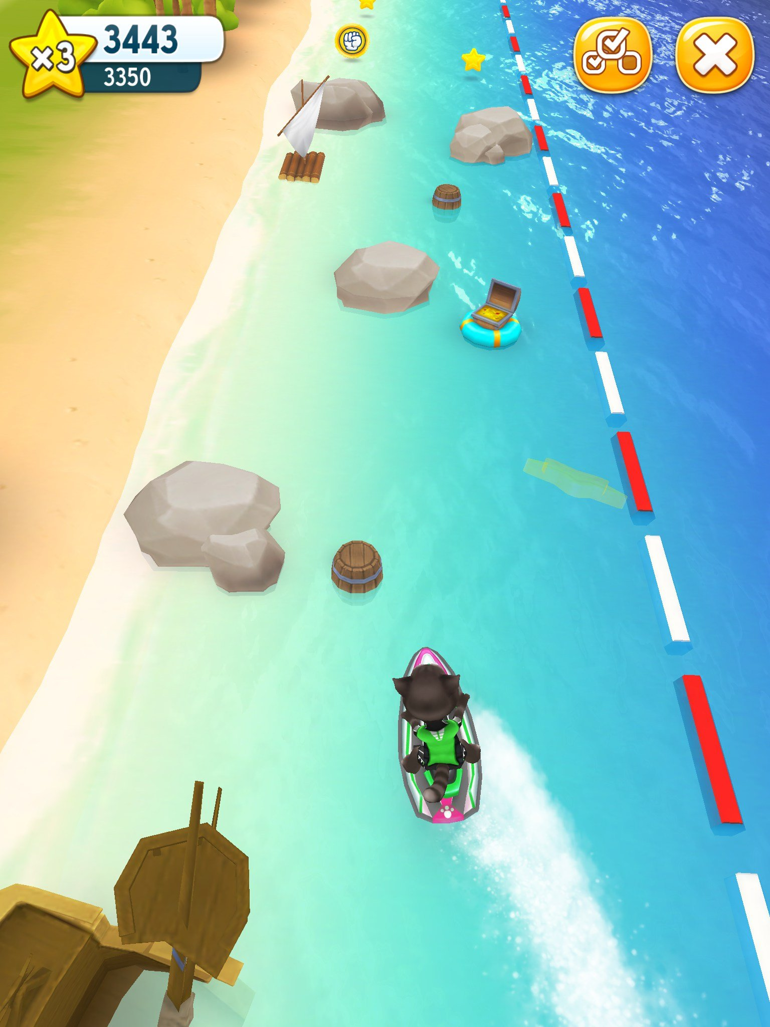Talking Tom Jetski 2 Android Gameplay - Talking Tom VS ...